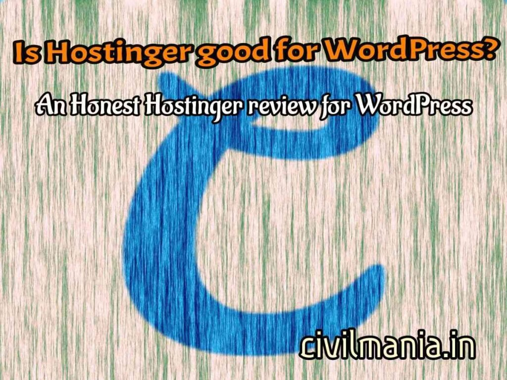 Hostinger wordpress review india
