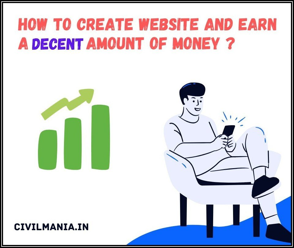 how to create website and earn money in india
