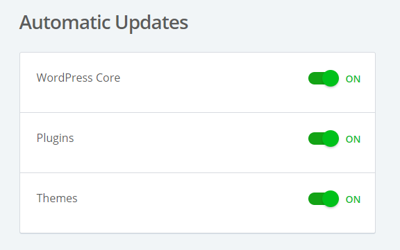 Bluehost India review automatic updates